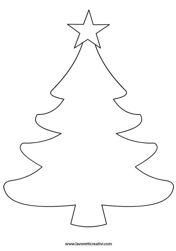 Dibujo Arbol Navidad Para Imprimir. Simple Elegant Arboles De ...