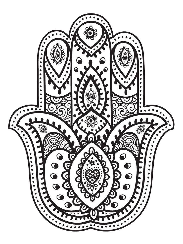 Mandalas para ni os 50 dise os de mandalas para colorear - Coloriage main de fatma ...