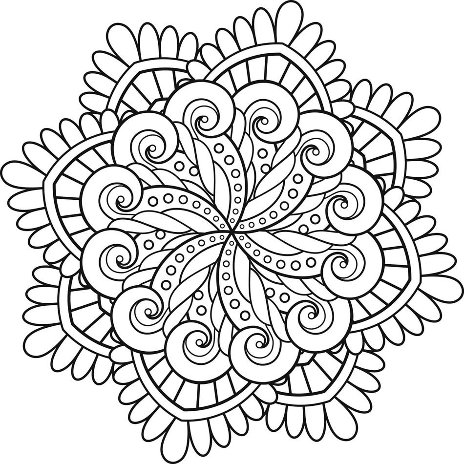 Mandalas para ni os 50 dise os de mandalas para colorear for Mandalas ninos