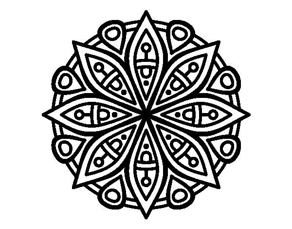 Mandalas para ni os 50 dise os de mandalas para colorear parani - Colores para la concentracion ...