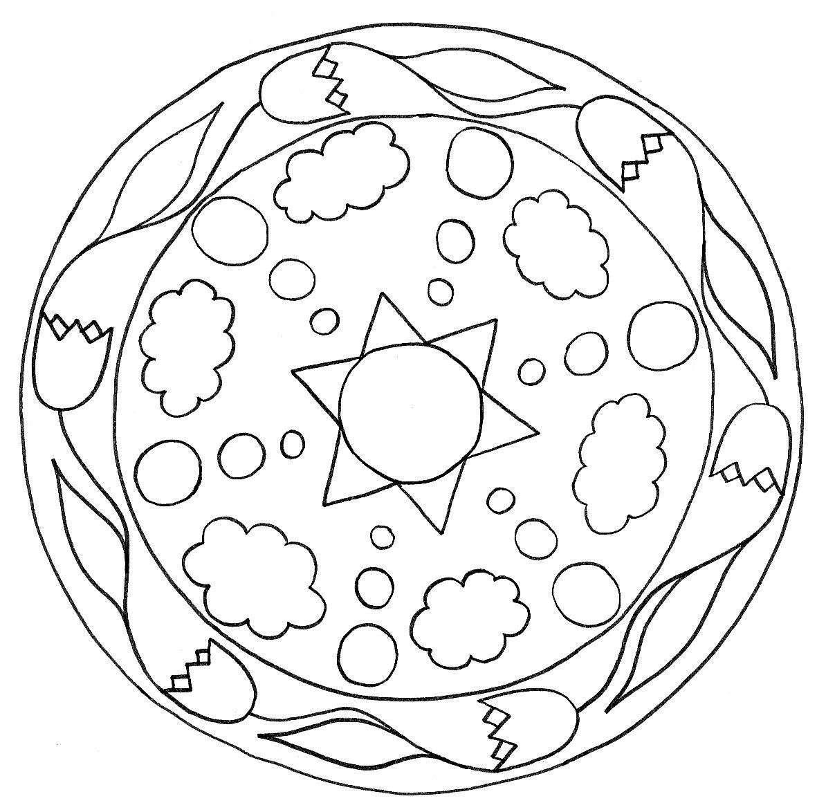 Mandalas Para Ninos Para Colorear Disenos Beneficios Paraninos Org