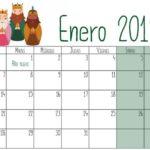 Calendarios 2019 para niños