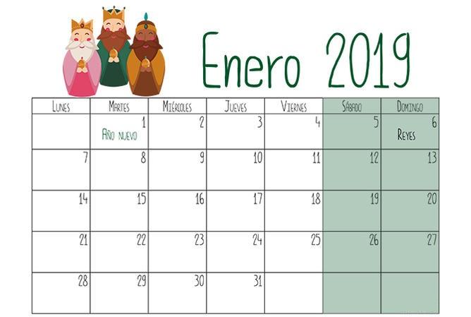 Calendarios 2019 Para Niños Descargar E Imprimir