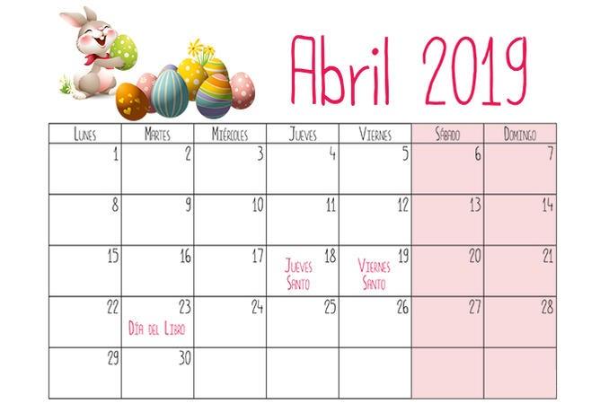 Calendario Mensual Imprimir.Calendarios 2019 Para Ninos Descargar E Imprimir Paraninos Org