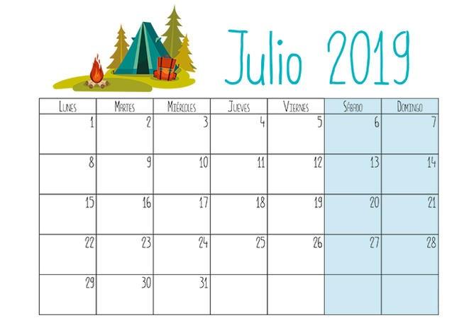 Calendario Para Escribir.Calendarios 2019 Para Ninos Descargar E Imprimir Paraninos Org